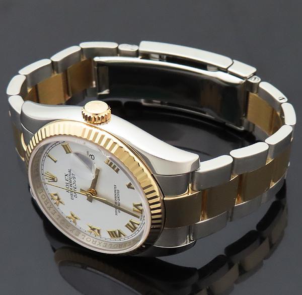 Rolex(로렉스) 116233 DATEJUST 데이트저스트 18K 콤비 오이스터 밴드 스틸 로마인덱스 화이트다이얼 오토매틱 남성용 시계 [인천점] 이미지3 - 고이비토 중고명품