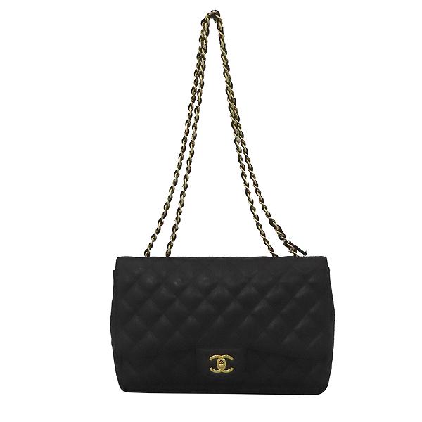 Chanel(샤넬) A28600 캐비어 스킨 블랙 클래식 점보 L사이즈 금장로고 체인 플랩 숄더백 [대구황금점] 이미지2 - 고이비토 중고명품