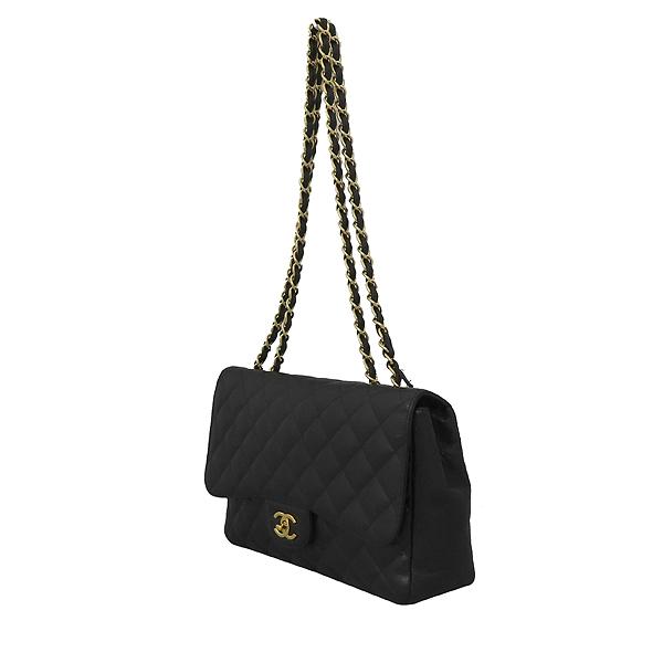 Chanel(샤넬) A28600 캐비어 스킨 블랙 클래식 점보 L사이즈 금장로고 체인 플랩 숄더백 [대구황금점] 이미지3 - 고이비토 중고명품