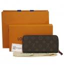 Louis Vuitton(루이비통) M60742 모노그램 캔버스 푸시아 클레망스 지피 월릿 장지갑 [대구동성로점]