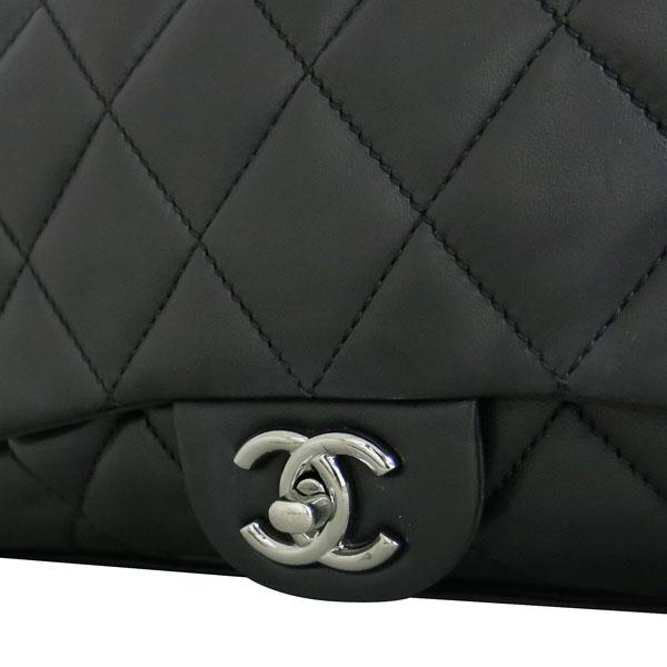 Chanel(샤넬) 블랙 램스킨 퀼팅 은장 COCO 로고 플랩 체인 숄더백 [동대문점] 이미지3 - 고이비토 중고명품