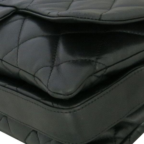 Chanel(샤넬) 블랙 램스킨 퀼팅 은장 COCO 로고 플랩 체인 숄더백 [동대문점] 이미지4 - 고이비토 중고명품