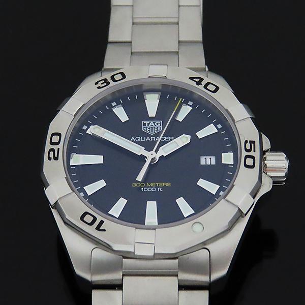 Tag Heuer(태그호이어) WBD1110 Aquaracer(아쿠아레이서) 흑판 쿼츠 스틸 남성용 시계 [대전본점] 이미지2 - 고이비토 중고명품