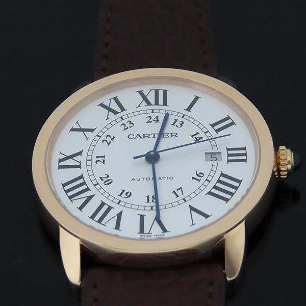 Cartier(까르띠에) W6701009 18k 로즈 골드 금통 Ronde Solo(론드 솔로) XL 사이즈 42mm 가죽밴드 오토매틱 남성용 시계 [대전본점] 이미지2 - 고이비토 중고명품