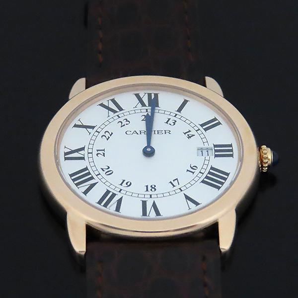 Cartier(까르띠에) W6701008 18k 로즈 골드 금통 Ronde Solo(론드 솔로) LM 사이즈 36mm 가죽밴드 쿼츠 남녀공용 시계 [대전본점] 이미지2 - 고이비토 중고명품