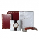 Cartier(까르띠에) W6701008 18k 로즈 골드 금통 Ronde Solo(론드 솔로) LM 사이즈 36mm 가죽밴드 쿼츠 남녀공용 시계 [대전본점]