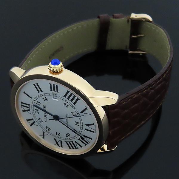 Cartier(까르띠에) W6701009 18k 로즈 골드 금통 Ronde Solo(론드 솔로) XL 사이즈 42mm 가죽밴드 오토매틱 남성용 시계 [대전본점] 이미지3 - 고이비토 중고명품