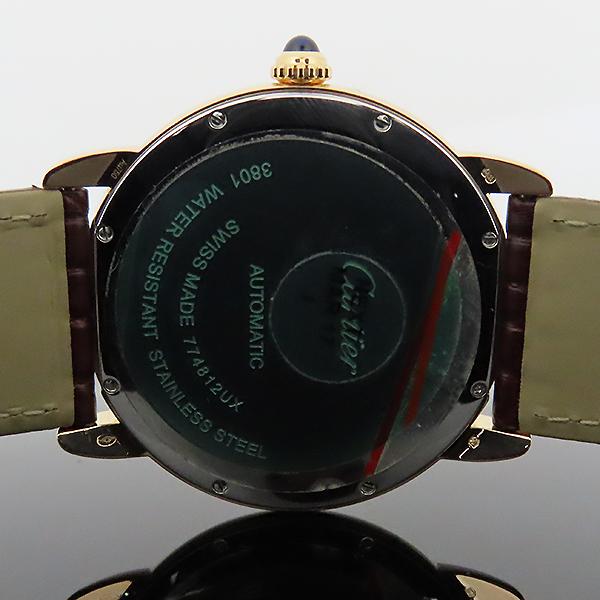 Cartier(까르띠에) W6701009 18k 로즈 골드 금통 Ronde Solo(론드 솔로) XL 사이즈 42mm 가죽밴드 오토매틱 남성용 시계 [대전본점] 이미지4 - 고이비토 중고명품