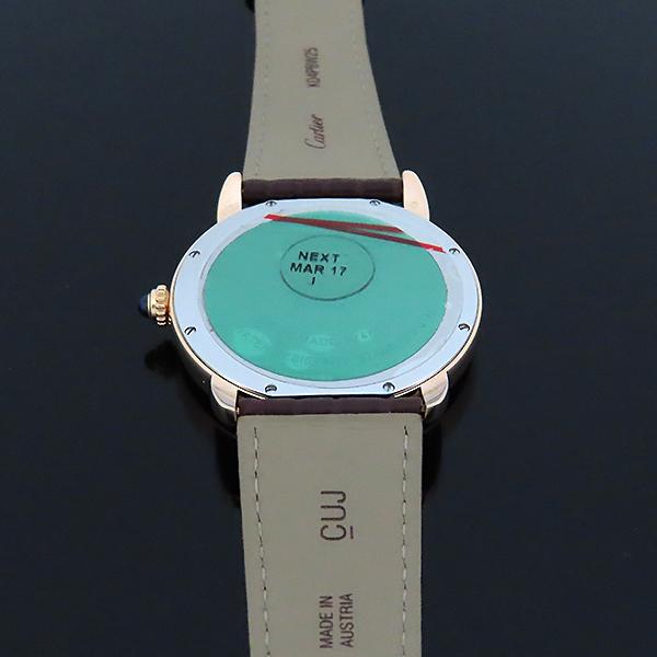 Cartier(까르띠에) W6701009 18k 로즈 골드 금통 Ronde Solo(론드 솔로) XL 사이즈 42mm 가죽밴드 오토매틱 남성용 시계 [대전본점] 이미지5 - 고이비토 중고명품