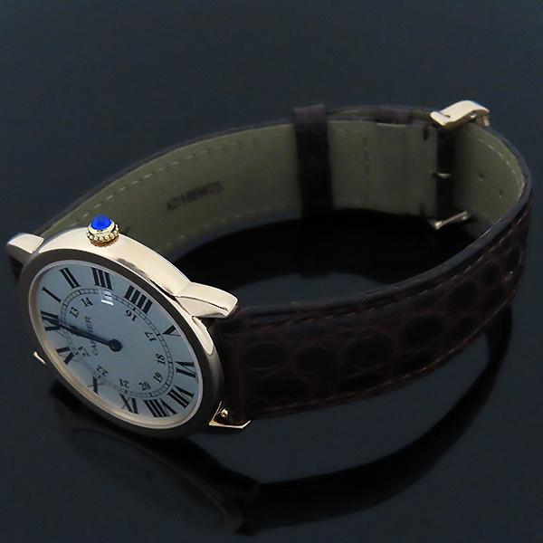 Cartier(까르띠에) W6701008 18k 로즈 골드 금통 Ronde Solo(론드 솔로) LM 사이즈 36mm 가죽밴드 쿼츠 남녀공용 시계 [대전본점] 이미지3 - 고이비토 중고명품