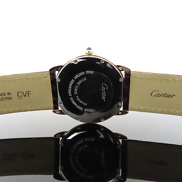Cartier(까르띠에) W6701008 18k 로즈 골드 금통 Ronde Solo(론드 솔로) LM 사이즈 36mm 가죽밴드 쿼츠 남녀공용 시계 [대전본점] 이미지4 - 고이비토 중고명품