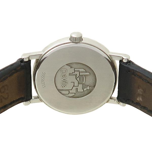 Omega(오메가) 원형 라운드 드빌 여성용 가죽 밴드 시계 [강남본점]