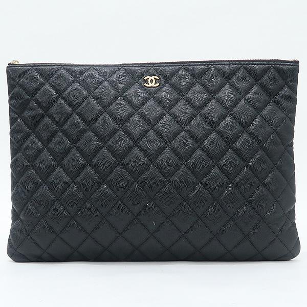 Chanel(샤넬) A69251 캐비어 블랙 금장 로고 L사이즈 클러치백 [강남본점] 이미지2 - 고이비토 중고명품