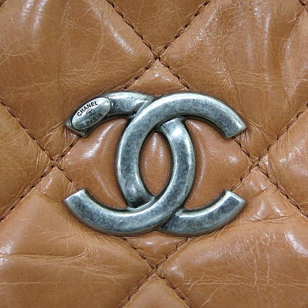Chanel(샤넬) 빈티지 라이트 카멜브라운 퀼팅 은장로고 메탈 쇼핑 체인 숄더백 [부산센텀본점] 이미지4 - 고이비토 중고명품