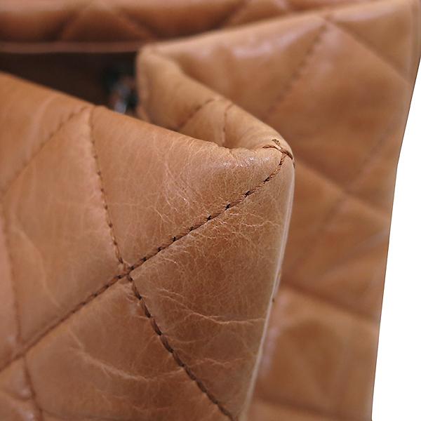 Chanel(샤넬) 빈티지 라이트 카멜브라운 퀼팅 은장로고 메탈 쇼핑 체인 숄더백 [부산센텀본점] 이미지5 - 고이비토 중고명품