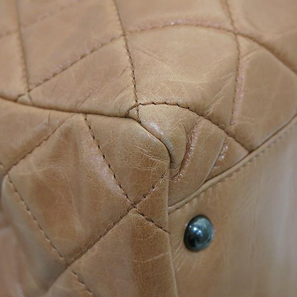 Chanel(샤넬) 빈티지 라이트 카멜브라운 퀼팅 은장로고 메탈 쇼핑 체인 숄더백 [부산센텀본점] 이미지6 - 고이비토 중고명품