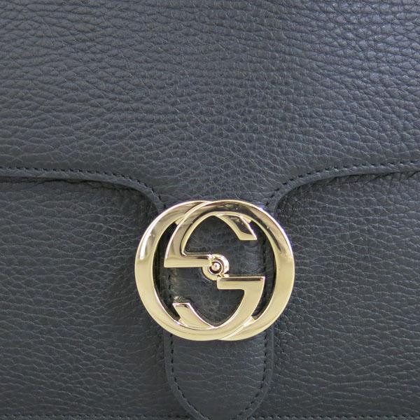 Gucci(구찌) 510303 블랙 레더 인터로킹 금장 체인 미디움 숄더백 [동대문점] 이미지4 - 고이비토 중고명품