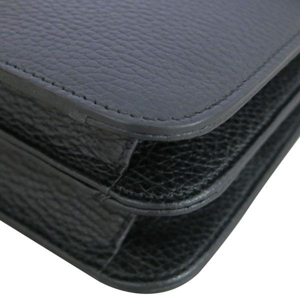 Gucci(구찌) 510303 블랙 레더 인터로킹 금장 체인 미디움 숄더백 [동대문점]