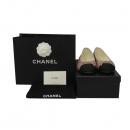 Chanel(샤넬) G26315 핑크 메탈 컬러 셔링 플랫 슈즈 [대구황금점]