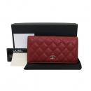 Chanel(샤넬) A31509 레드 캐비어스킨 TIMELESS(타임 리스) CLASSIC(클래식) 은장로고 장지갑 [부산서면롯데점]