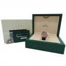 Rolex(로렉스) 326135 에버로즈골드 초코다이얼 Oyster Perpetual Sky-Dweller (스카이 드웰러) 42mm 레더 밴드 남성용 시계 [인천점]