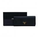 Prada(프라다) 1M1132 블랙 컬러 금장 로고 SAFFIANO METAL 사피아노 장지갑 [부산센텀본점]