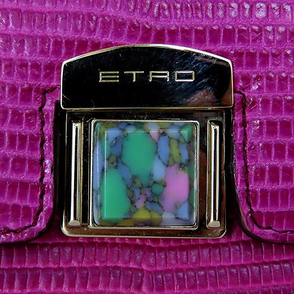 Etro(에트로) 1F731 2791 크로커다일 패턴 퍼플 레더 클러치 겸 크로스백 [대전본점] 이미지4 - 고이비토 중고명품