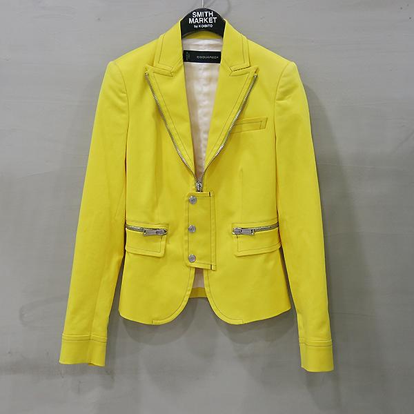 DSQUARED2 (디스퀘어드2) S75BN0260 옐로우 컬러 지퍼 장식 여성용 자켓 [부산센텀본점]