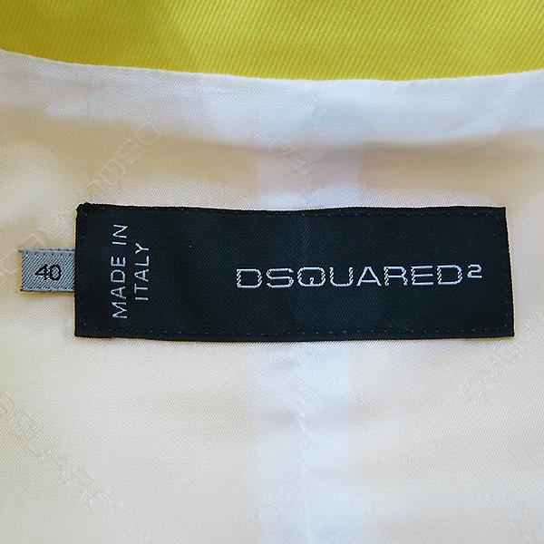 DSQUARED2 (디스퀘어드2) S75BN0260 옐로우 컬러 지퍼 장식 여성용 자켓 [부산센텀본점] 이미지4 - 고이비토 중고명품