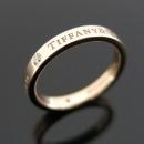 Tiffany(티파니) 18K 핑크 골드 Tiffany&Co 라운드 로고 브릴리언트 3포인트 다이아 3MM 반지-14.5호 [대구동성로점]