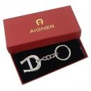Aigner(아이그너) 은장 로고 장식 키홀더 [강남본점]