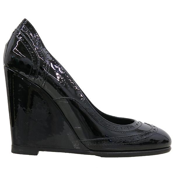 Chanel(샤넬) 블랙 페이던트 웨지힐 여성 구두 [강남본점] 이미지4 - 고이비토 중고명품