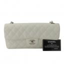 Chanel(샤넬) A35731 캐비어스킨 화이트컬러 클래식 스몰 S사이즈 은장로고 원 체인 플랩 숄더백 [잠실점]