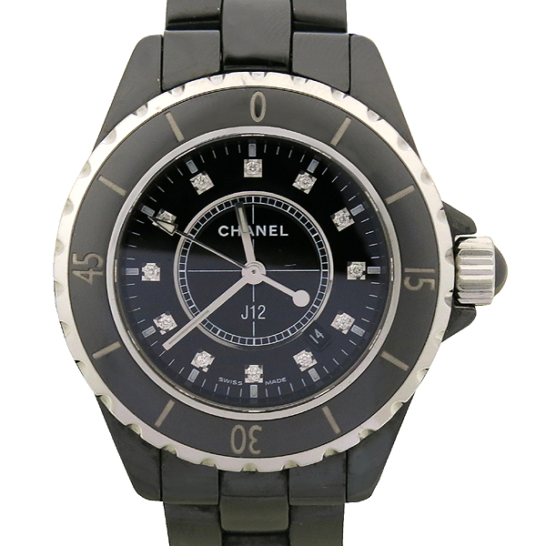 Chanel(샤넬) H1625 J12 33MM 블랙 세라믹 12포인트 다이아 여성용 시계 [강남본점] 이미지2 - 고이비토 중고명품