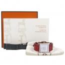 Hermes(에르메스) HH1.510 자개판 11포인트 다이아 크로커다일 가죽밴드 시계 [강남본점]