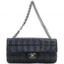 Chanel(샤넬) 램스킨 블랙컬러 초코바 퀼팅 메탈 은장로고 멀티 체인 미니 플랩 숄더백 [강남본점]