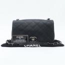 Chanel(샤넬) 카프스킨 블랙컬러 마트라쎄 메탈 은장로고 락 디테일 체인 플랩 미니 크로스백 [강남본점]