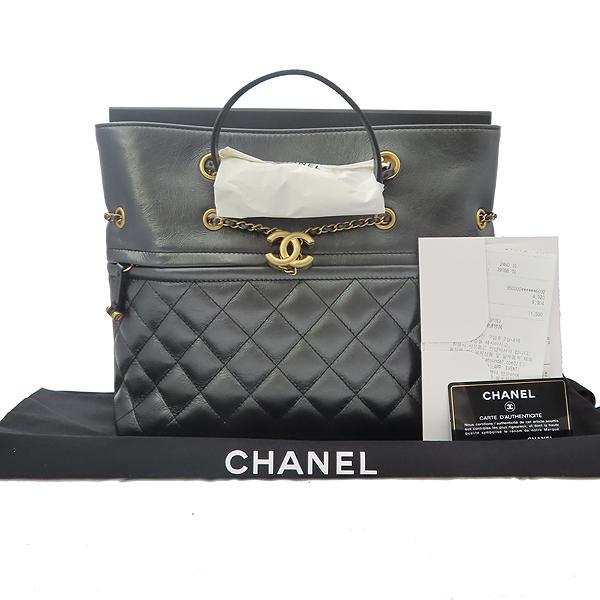 Chanel(샤넬) AS0831B0088594305 블랙 컬러 램스킨 메탈릭골드 coco장식 퀼팅 숄더백((2019.6.27일구매) [잠실점]