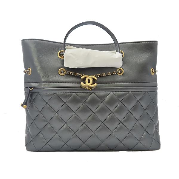 Chanel(샤넬) AS0831B0088594305 블랙 컬러 램스킨 메탈릭골드 coco장식 퀼팅 숄더백((2019.6.27일구매) [잠실점] 이미지2 - 고이비토 중고명품