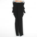 Obzee(오브제) 블랙 컬러 벨트 장식 여성용 팬츠 [강남본점]