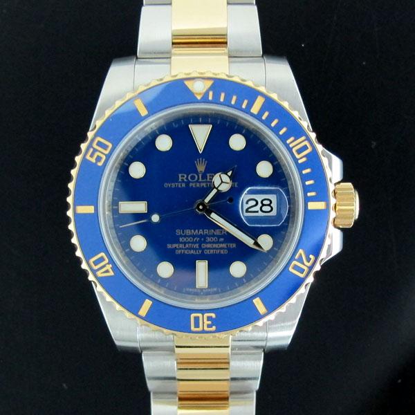Rolex(로렉스) 116613LB 18K 콤비 SUBMARINER 서브마리너 파스텔 청판 다이얼 남성용 시계 [동대문점] 이미지2 - 고이비토 중고명품