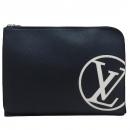 Louis Vuitton(루이비통) M67747 네이비 레더 화이트 LV로고 포쉐트 주르 GM 클러치 [인천점]