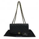 Chanel(샤넬) A58600 블랙 캐비어스킨 클래식 점보 사이즈 금장 체인 숄더백 [동대문점]