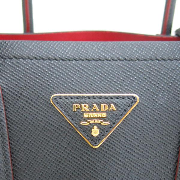 Prada(프라다) 1BG887 SAFFIANO(사피아노) CUIR 블랙 두블레 토트백 + 숄더 스트랩 2WAY [동대문점] 이미지4 - 고이비토 중고명품