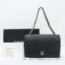 Chanel(샤넬) A47600Y01588 캐비어스킨 블랙 클래식 맥시 사이즈 금장 체인 숄더백 [강남본점]