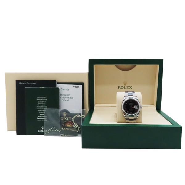 Rolex(로렉스) 116200 블랙 다이얼 DATEJUST (데이저스트) 로마 인덱스 오이스터 스틸 밴드 브레이슬릿 오토매틱 남성용시계 [인천점]