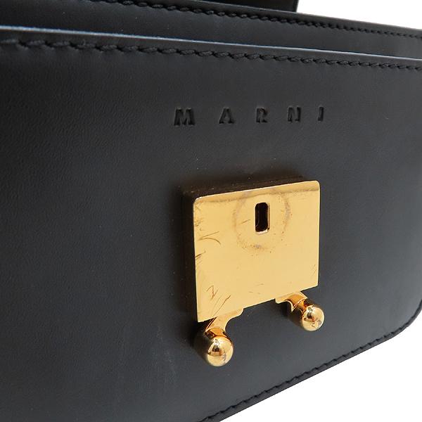 MARNI(마르니) SBMPS01U00 블랙 레더 TRUNK(트렁크) 미니 사이즈 숄더백 겸 크로스백 [인천점] 이미지4 - 고이비토 중고명품