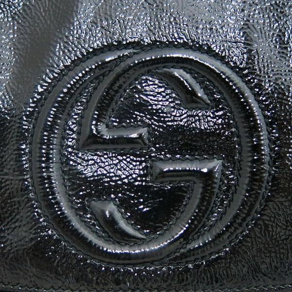 Gucci(구찌) 336752 블랙 페이던트 SOHO 소호 인터로킹 스티치 골드 메탈 체인 크로스백 [동대문점] 이미지4 - 고이비토 중고명품
