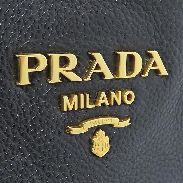 Prada(프라다) BN1713 VIT.DAINO NERO 블랙 레더 금장 로고 쇼퍼 2WAY [부산서면롯데점] 이미지3 - 고이비토 중고명품