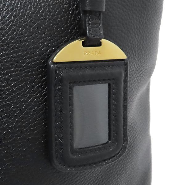 Prada(프라다) BN1713 VIT.DAINO NERO 블랙 레더 금장 로고 쇼퍼 2WAY [부산서면롯데점] 이미지4 - 고이비토 중고명품